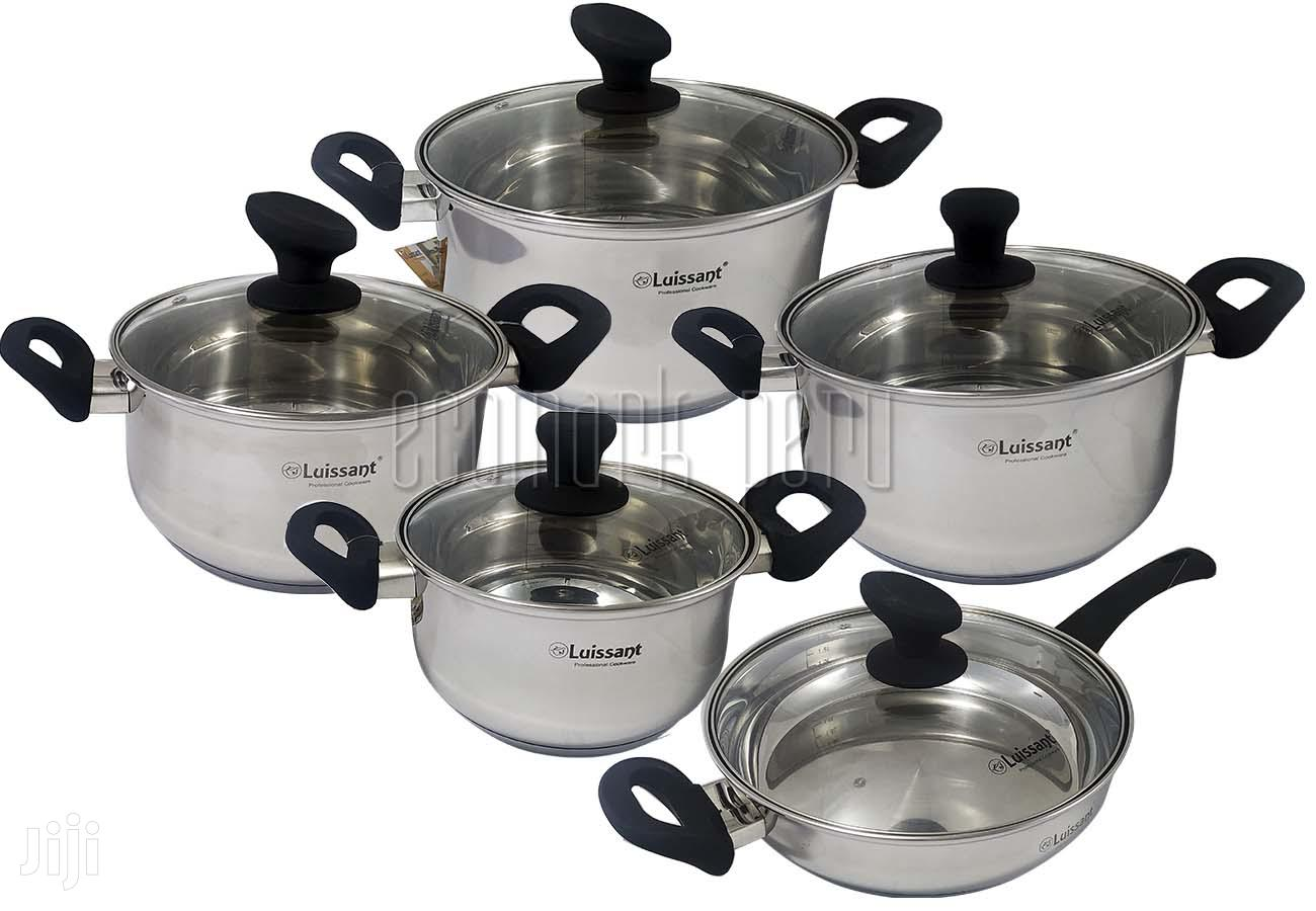 10pcs Luissant france heavy stainless steel cookware set