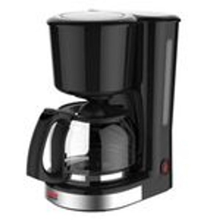 12 Cup Coffee Maker Black 1.25Ltrs