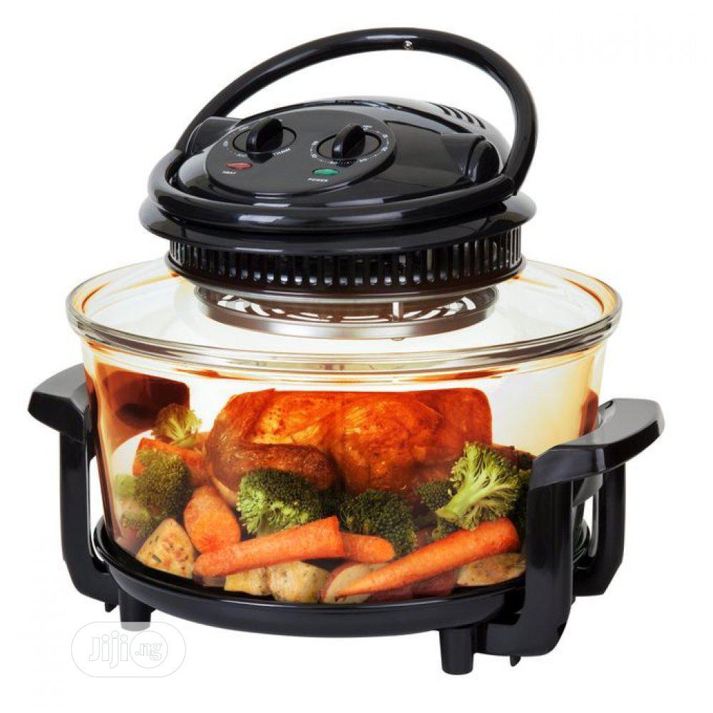 13 Litres Halogen Oven Cook, Bake ,Grill ,DEFROST- 6 IN 1 Black