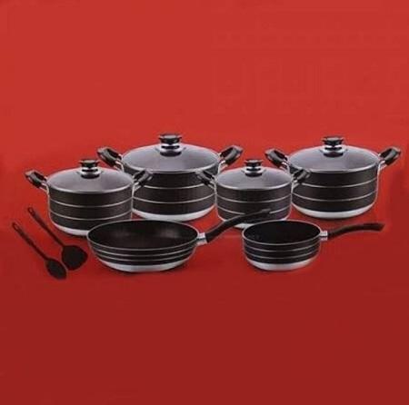 13 Pieces Non-stick Signature Cookware Set black