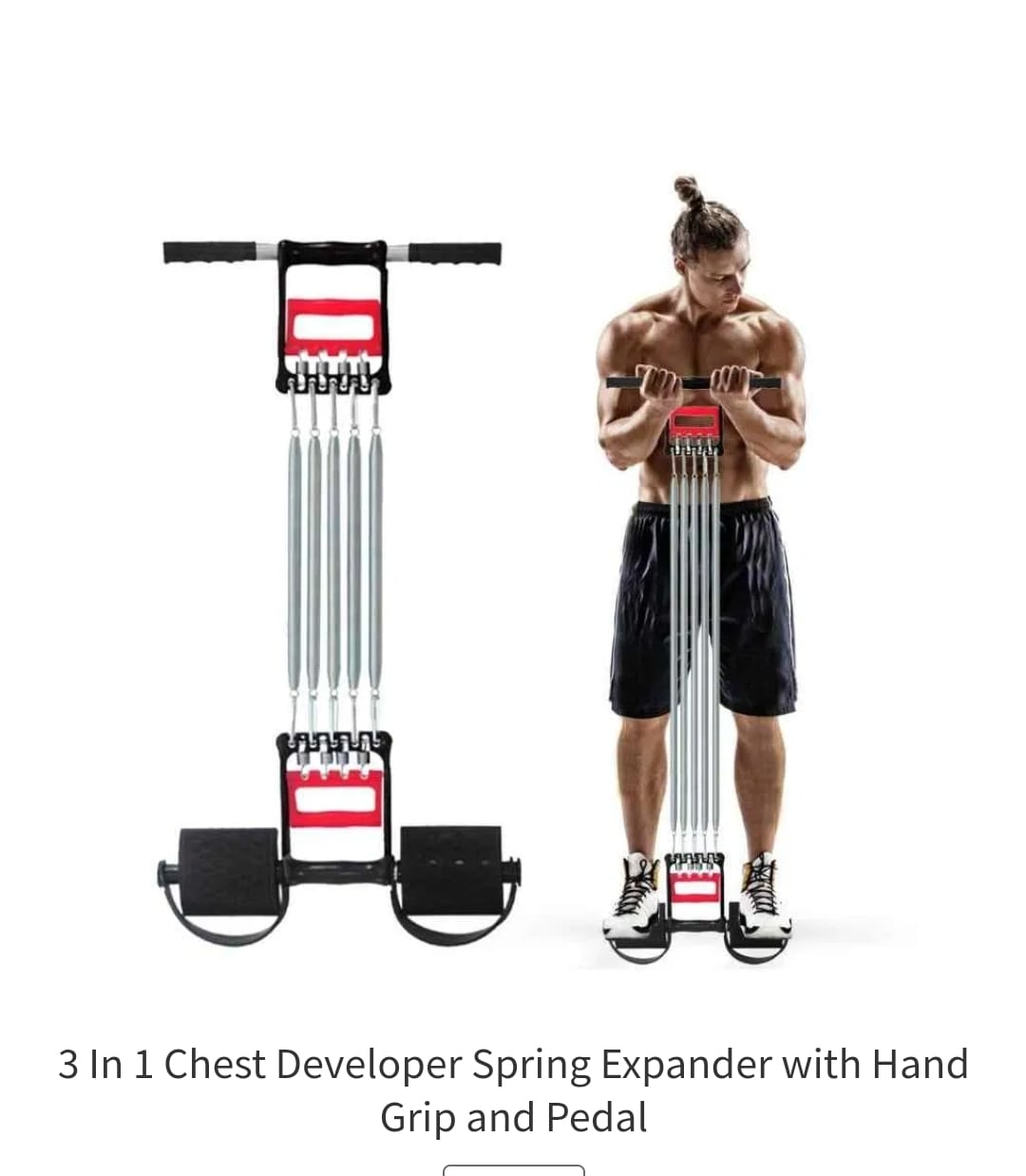 3in1 (Chest expander, Tummy Trimmer and hand grips) Chest Pull as per the picture