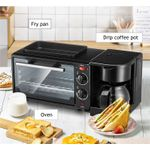 3 in 1 Home Breakfast machine Coffee machine Electric Oven Toasted bread Coffee maker