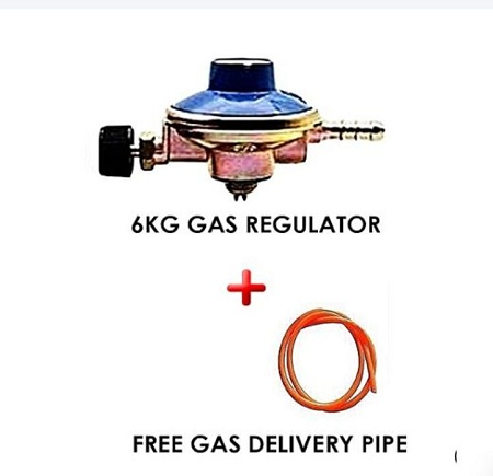 6kg Gas Regulator Plus Gas Delivery Pipe multi-coloured standard