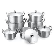 7pcs Heavy Duty Aluminium Cooking Pots