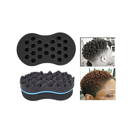 Barber Hair Brush Sponge Dreads Locking Twist Coil Afro Curl Wave black