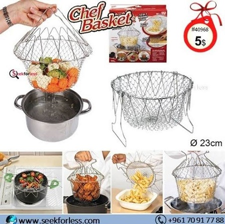 Chef's Basket Colander silver 1pc