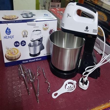 Electric mixer with bowl