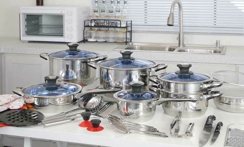 Fashion Hot Chef 39PCS Heavy Stainless Steel Cookware Set Stainless Steel