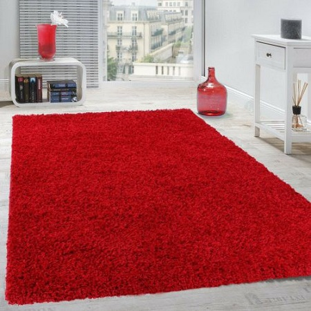 Fluffy Carpets 5 By 8 - Red