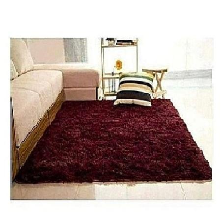 Fluffy Carpets 5*8 maroon/ dark red