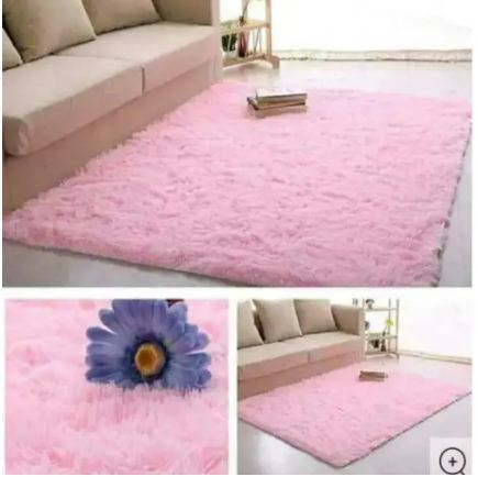 Fluffy Soft and Tender Carpet Pink 5*8