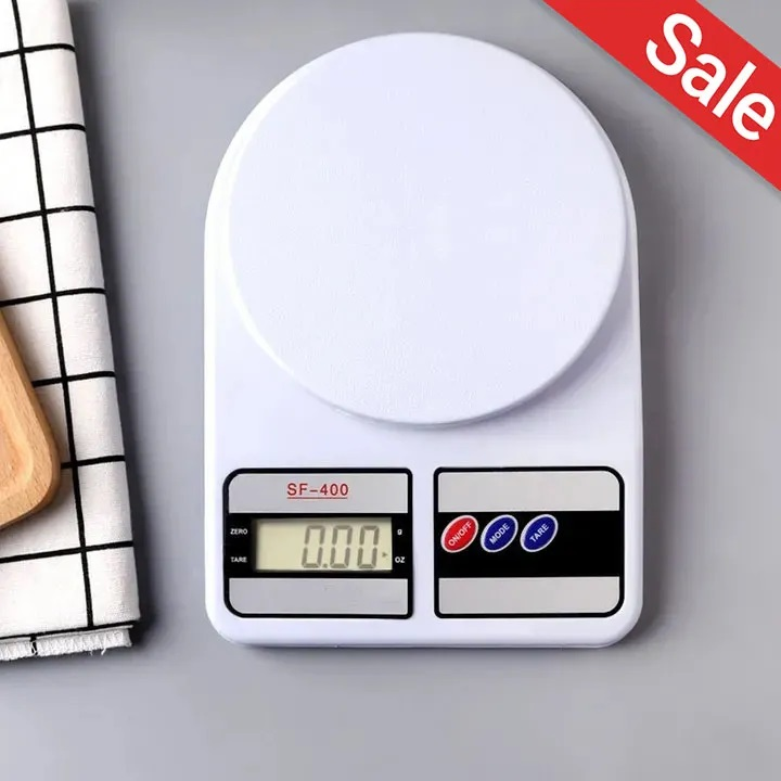 Generic Digital Electronic Kitchen Weigh Scale White