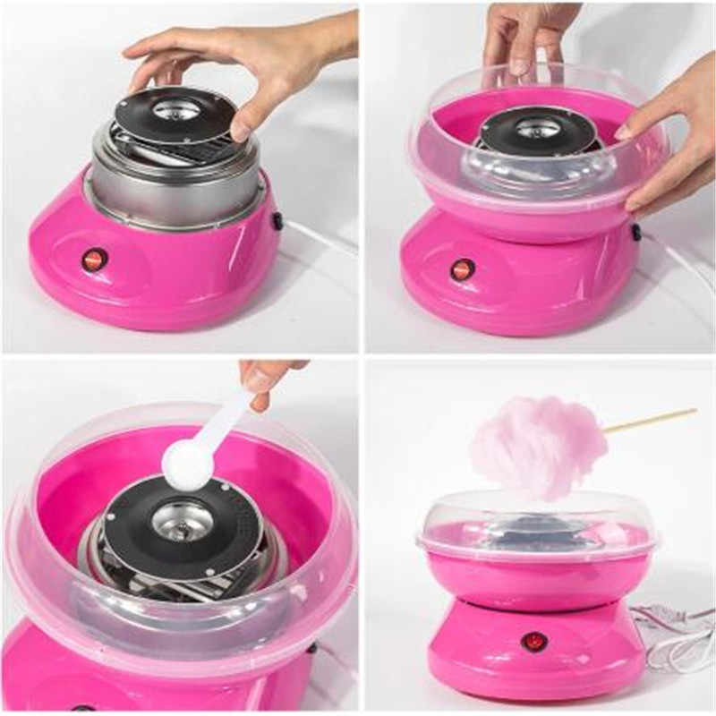 Generic Double boilers sugar head of Candy Floss cotton candy machine for Cotton Maker Pink Large