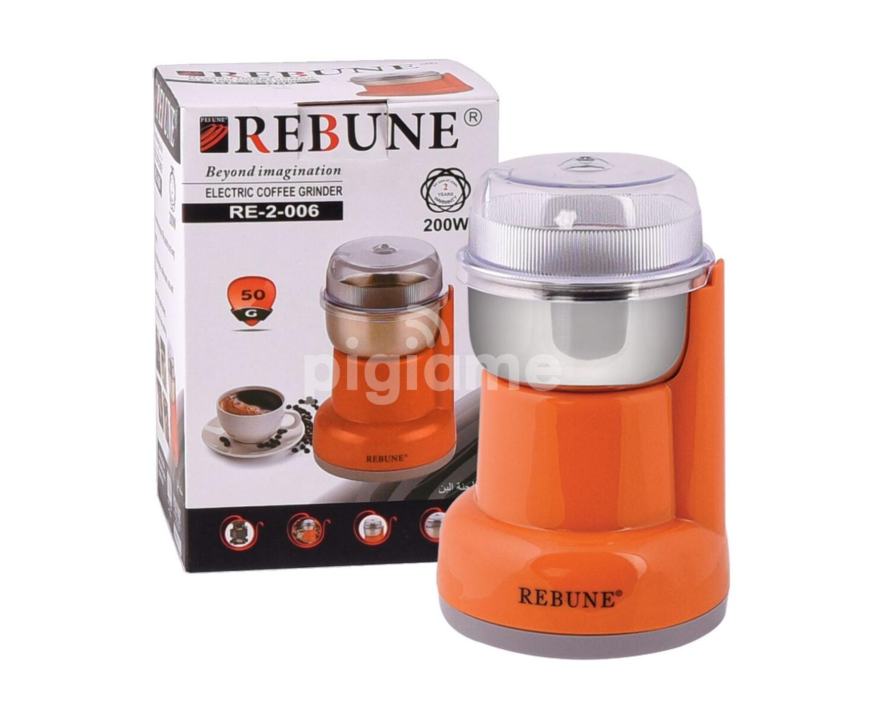 Generic Electric Coffee Grinder Maker Grinding Milling Bean Orange