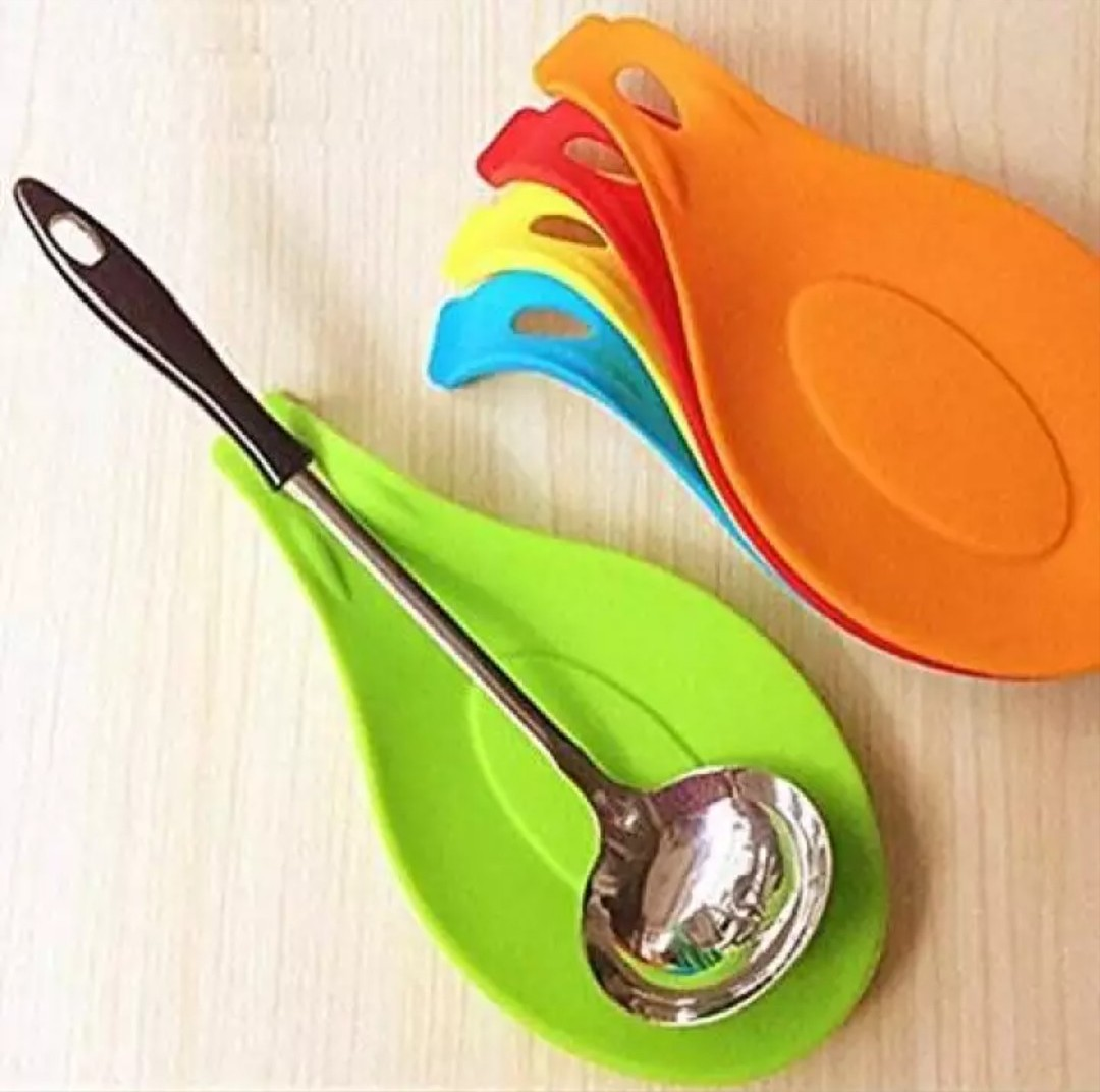 Generic Kitchen Silicone Spoon Rest - 3pcs Assorted