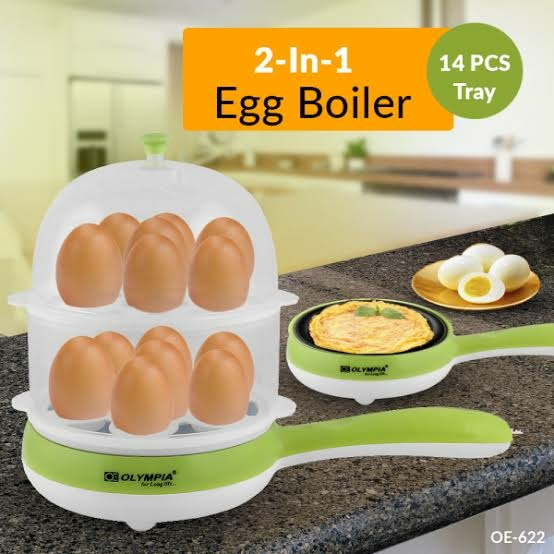 Generic Multi-Function Mini Double Layers 14 Eggs Boiler,Poacher, Steamer with Electric Omelette Pan