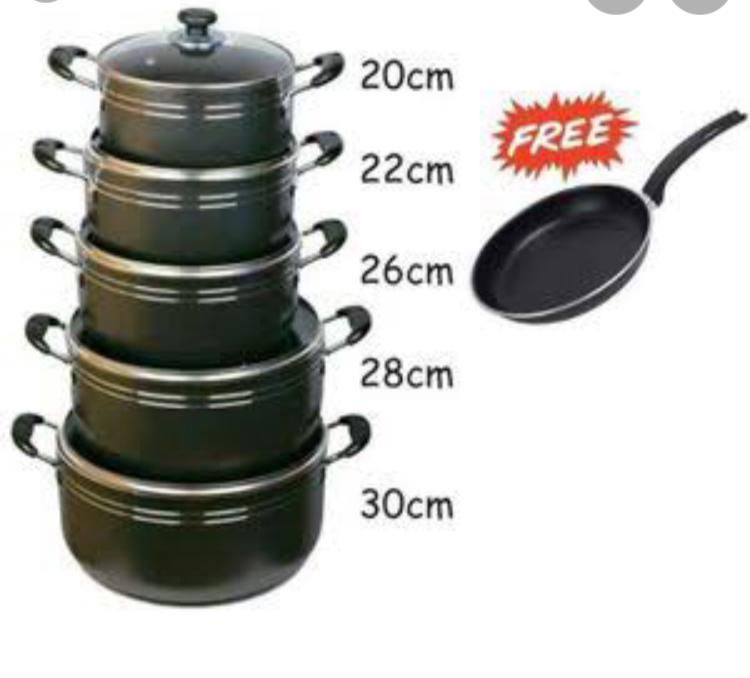 Generic Nonstick Cooking Pots with FREE Heavy Fry Pan