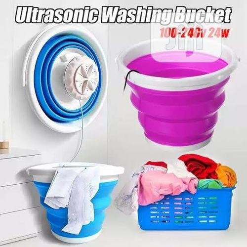 Generic ultrasonic mini washing machine bucket Multicolour Large