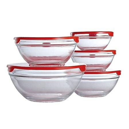 Glass Bowl set for Fridge Storage 5 pcs