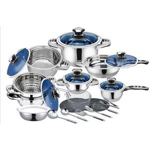 Harraz 25pc 7Layer Titanium Bottom Stainless Steel Cookware