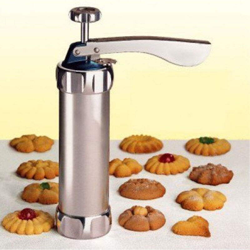 High Quality Cookie Press Cookie Cake Decorating Tool Gun Cookie Maker stainless steel