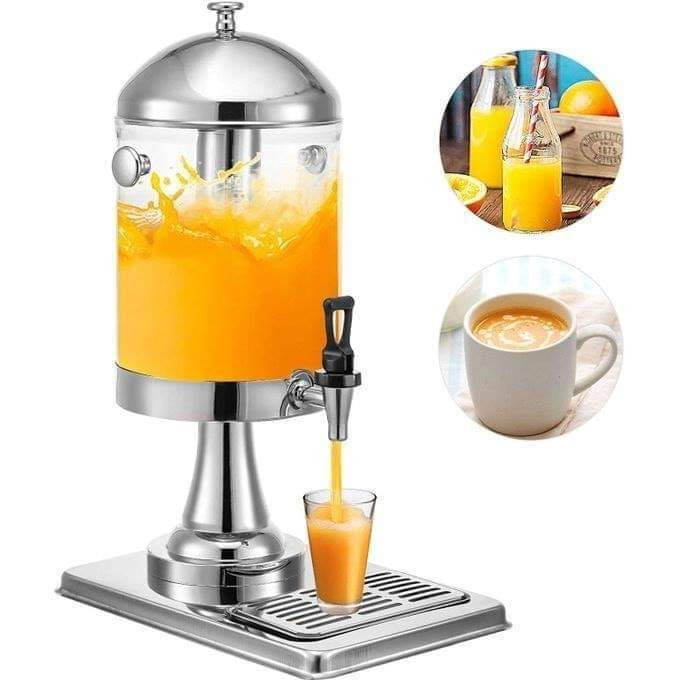 Juice/Cold Beverage 8L Dispenser With Stand And Ice Pole