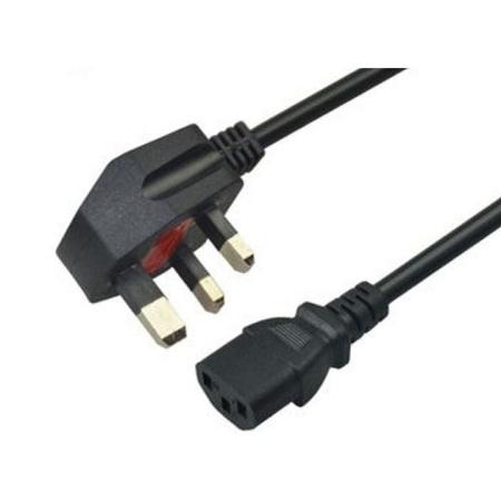 Kettle plug 3pin AC Power Cord Adapter Black
