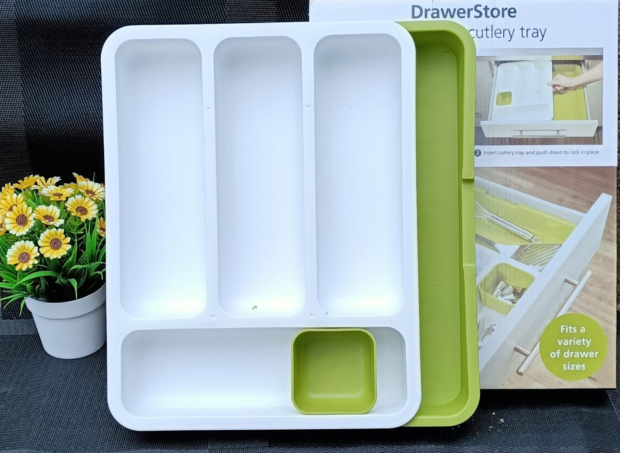 Kitchen Drawer Store Expanding Cutlery Tray