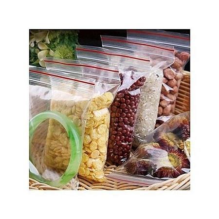 Re-usable ziplock Fride Food storage bags random Random Clear 5 Pcs