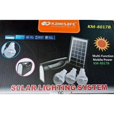 Solar lighting system Kamisafe black standard 9v