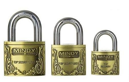 Top Anti-Burglar Security Padlock with 3 Keys Gold Medium gold large Gold Large