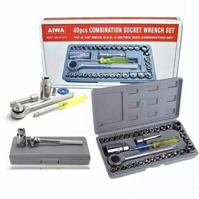Aiwa 40 Pcs Combination Socket Wrench Set
