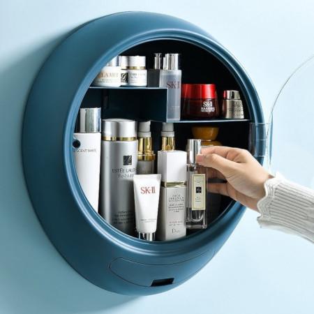 Wall Mounted Bathroom Cosmetic Storage Box Punch