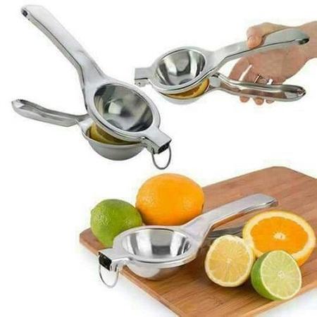 Lemon Squeezer Stainless Steel Orange Juicer Fruit Juice Fast Handle Press Tool Silver one size