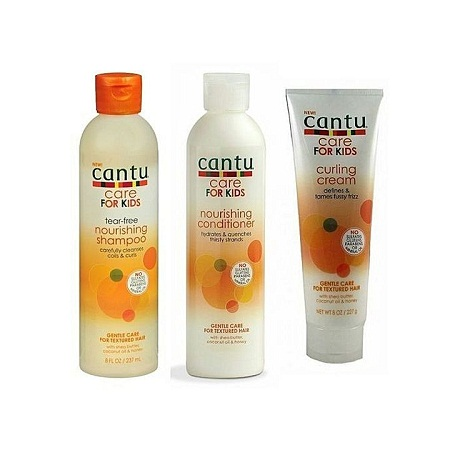 CANTU Baby Hair Care for Kids Nourishing shampoo & Conditioner, Curling Cream multi colours