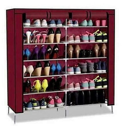 Classy shoe rack wine red