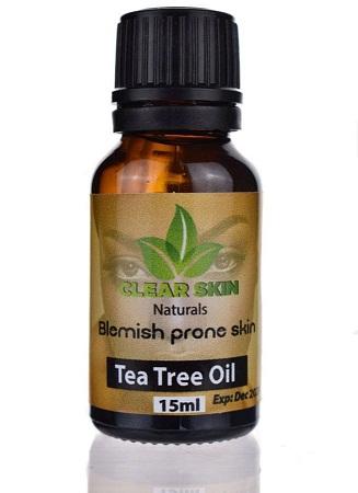 Clear Skin Tea Tree Oil black