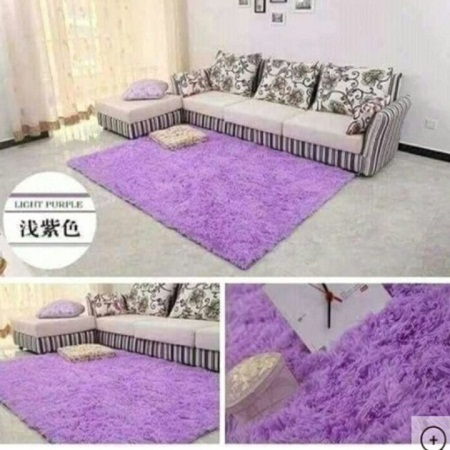 Fluffy Soft and Tender Carpet purple 7*10