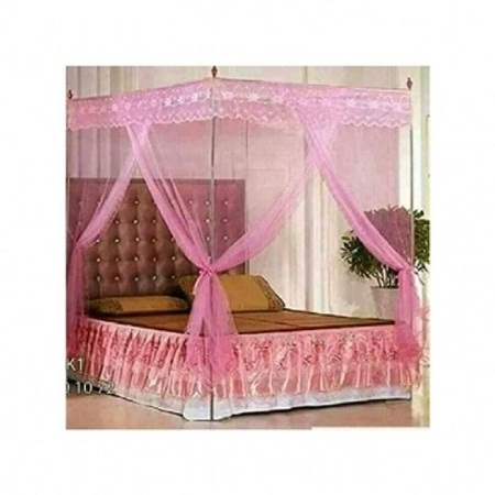 MOSQUITO NET WITH METALLIC STAND pink 4*6