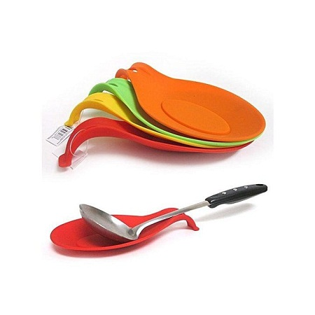 Silicone Spoon Rest random 2 pcs