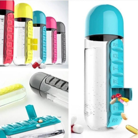 Water Bottle With Slots For Putting Medicine