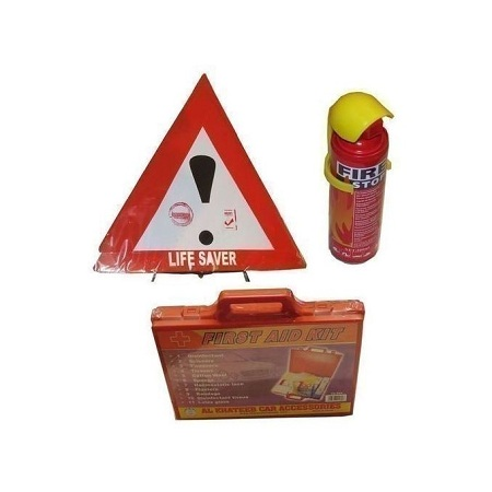 Bundle - Life Saver, Fire Extinguisher + First Aid Kit - Multicoloured