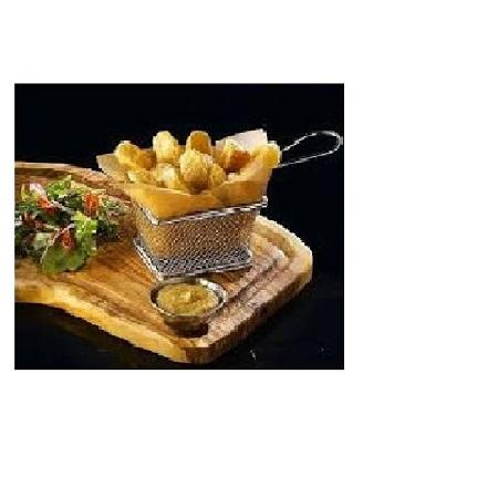 Fashion Mini Square French Deep Fryer Basket Net Mesh Fries Chip