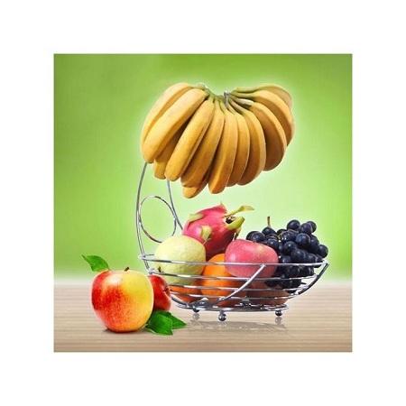 Fashion Tabletop Fruit Rack Fruit Basket With Banana Holder