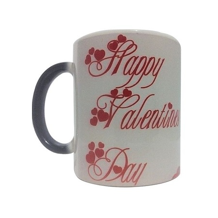 Valentine's day printed mug