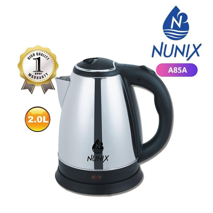 BUY 1 GET 1 FREE -Nunix  2.0L Cordless Kettle Stainless Steel