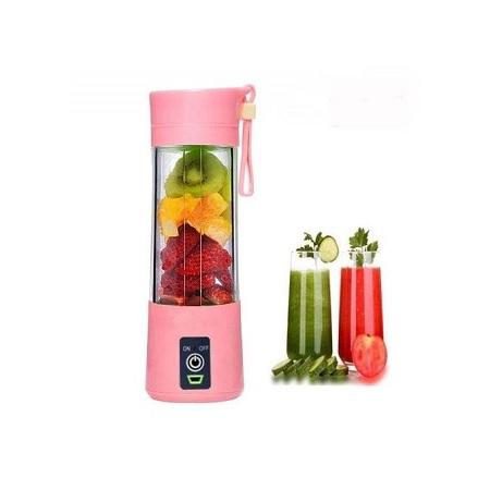 Juicer Portable Blender Juicer,Mixer,USB Rechargeable, 380ml-Pink