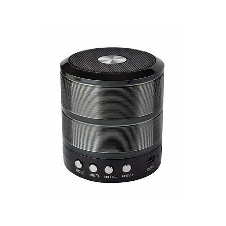 Wster Bluetooth Speaker WS887 Support TF/U Disk, Wireless Mini Speaker - Black