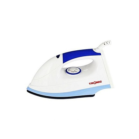 Tronic 1200W Dry Iron Box With Ceramic Soleplate - White & Blue