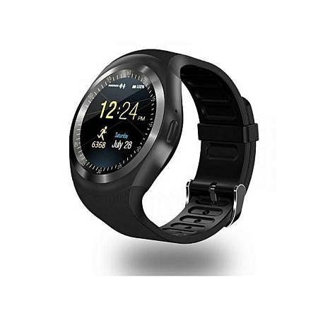 Smart Gear Y1 Sporty Touchscreen Smart Watch Phone – Black